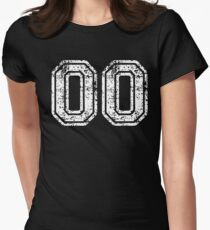 Sport Team Jersey 00 T Shirt Football Soccer Baseball Hockey Double Basketball Double Zero oo OO Number Women's Fitted T-Shirt