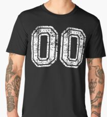 Sport Team Jersey 00 T Shirt Football Soccer Baseball Hockey Double Basketball Double Zero oo OO Number Men's Premium T-Shirt
