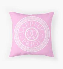 Sapphic Pride Throw Pillow