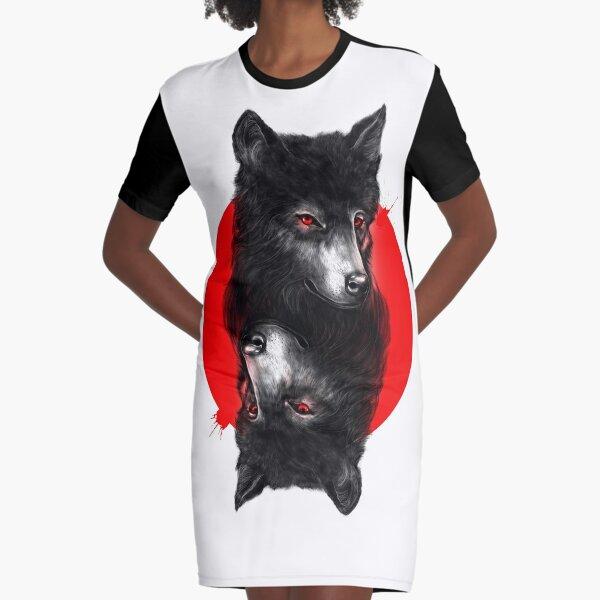 Duality Graphic T-Shirt Dress
