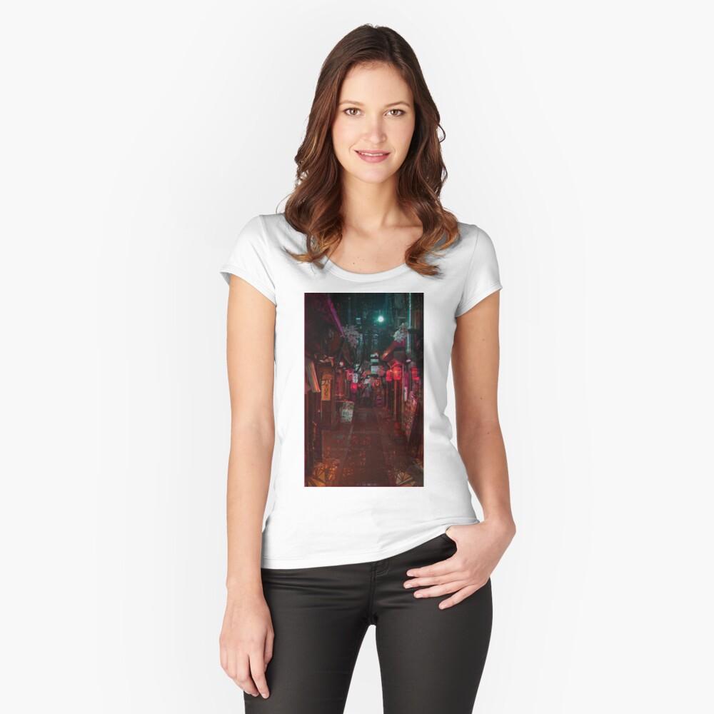 Gasse Tailliertes Rundhals-Shirt