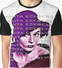 Anita Eckberg in Wine Graphic T-Shirt