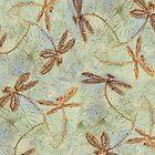 Dragonfly Dance Gold by lyndseyart