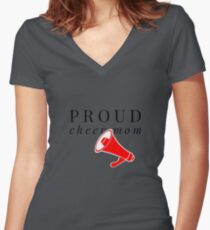 Proud Cheer Mom Women's Fitted V-Neck T-Shirt