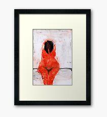 """Naked Girl Painting """"Pleasure"""" Framed Print"""