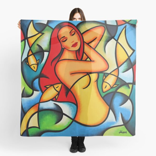 "Design-Serie ""Colorful Dance"" von Ekaterina Moré / Ekaterina More Tuch"