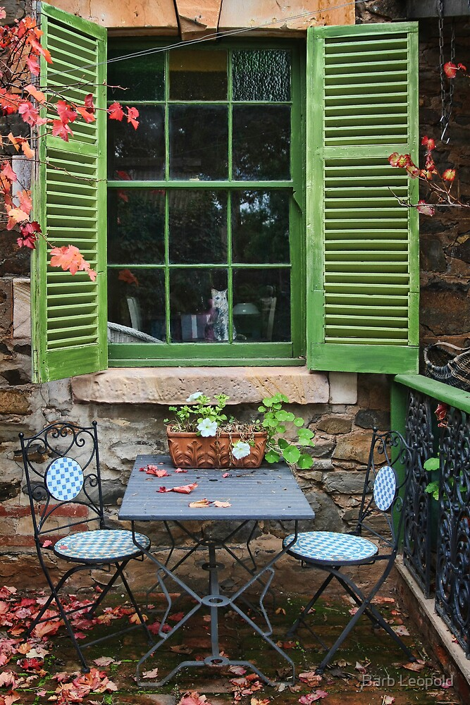 Green Shutters by Barb Leopold