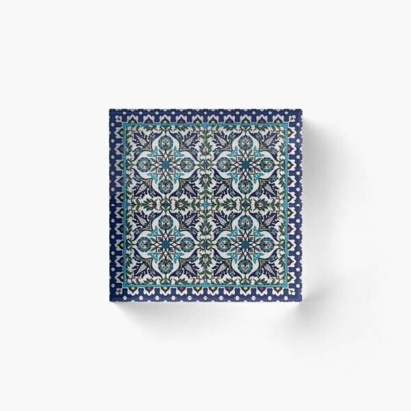 Armenian pattern wall art Acrylic Block