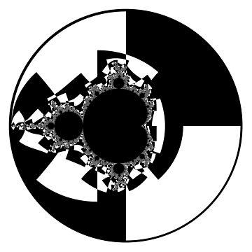 Monochrome Mandelbrot 005 by rupertrussell