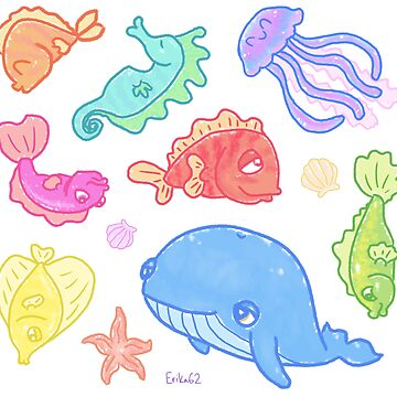 Sea Life Stickers by Erika62