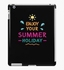 Enjoy Your Summer iPad-Hülle & Klebefolie