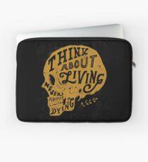 Denk an das Leben Laptoptasche