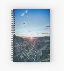 Insane canyon landscape Spiral Notebook