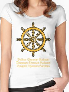 Buddha, India Women's Fitted Scoop T-Shirt