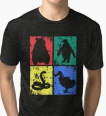 Coat of arms - Bear Penguin Snake Dodo - Animals 4 colors Tri-blend T-Shirt