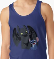 Stitch and Toothless Tank Top