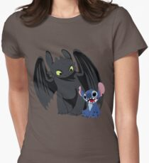 Stitch and Toothless Women's Fitted T-Shirt