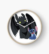 Stitch and Toothless Uhr