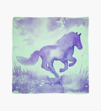 Blaues Aquarell Pferd Tuch