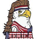 4th of July American Bald Mullet Eagle 'Merica by Richard Eijkenbroek