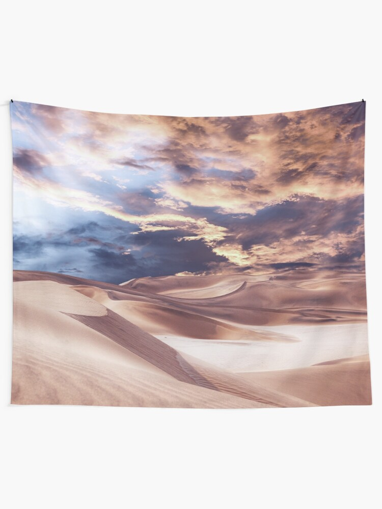 Alternate view of Golden Sand And Clouds Tapestry