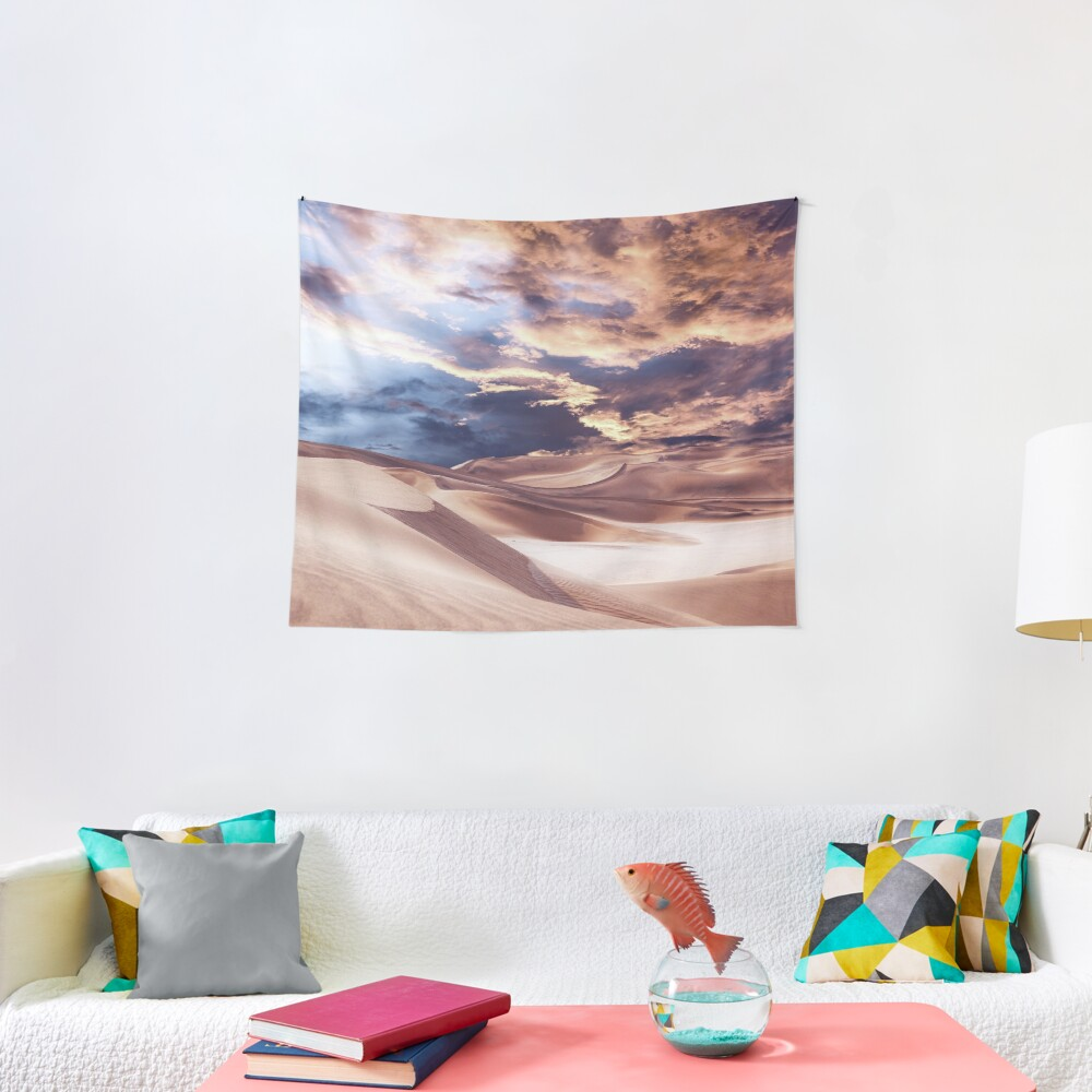 Golden Sand And Clouds Tapestry