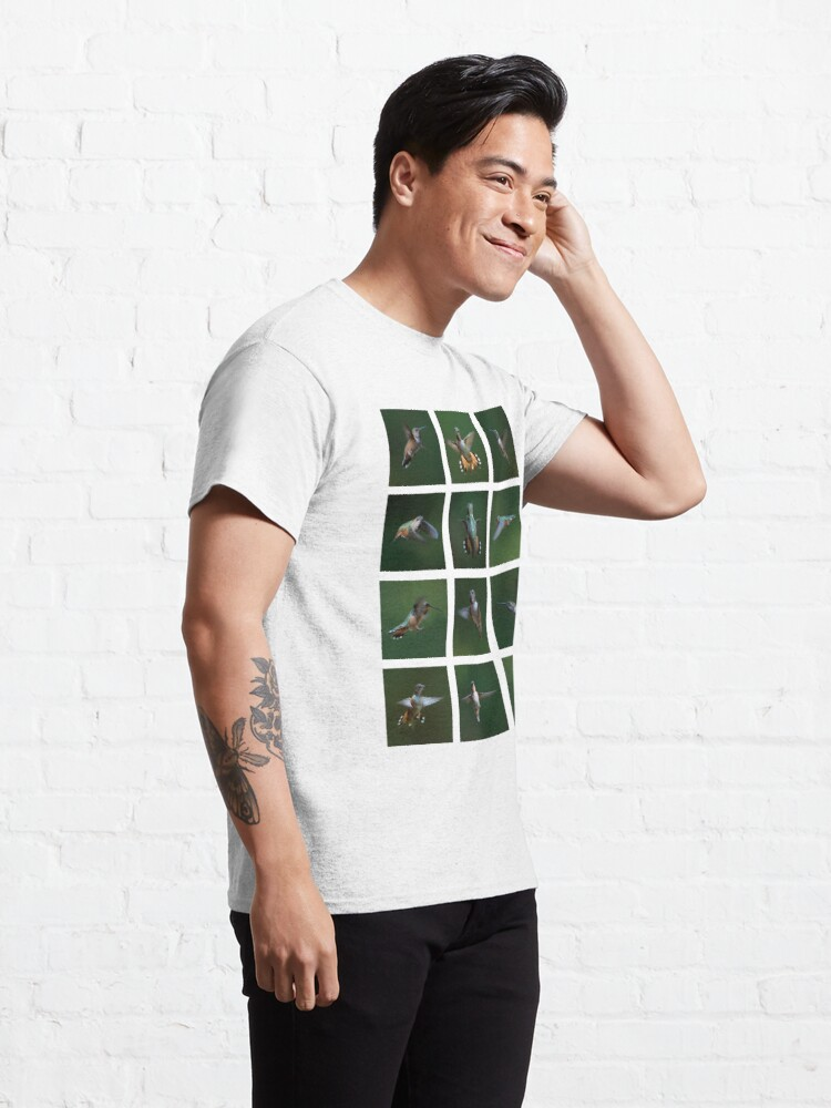Alternate view of Humming Bird Montage Classic T-Shirt
