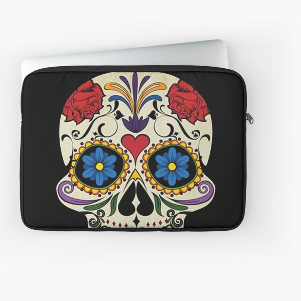 The Dead Sugar Skull Laptop Sleeve Bag Evecase Neoprene Universal Sleeve Zipper Protective Cover Case 13 Inch for Notebook
