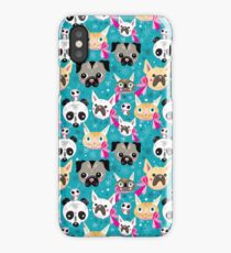 pattern portraits of animals iPhone Case/Skin