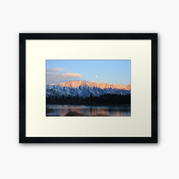 The Remarkable's Mountains  Queenstown New Zealand  Framed Art Print