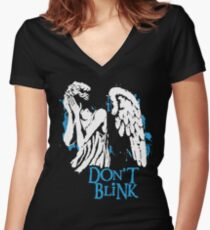 Doctor Who Don't Blink Women's Fitted V-Neck T-Shirt