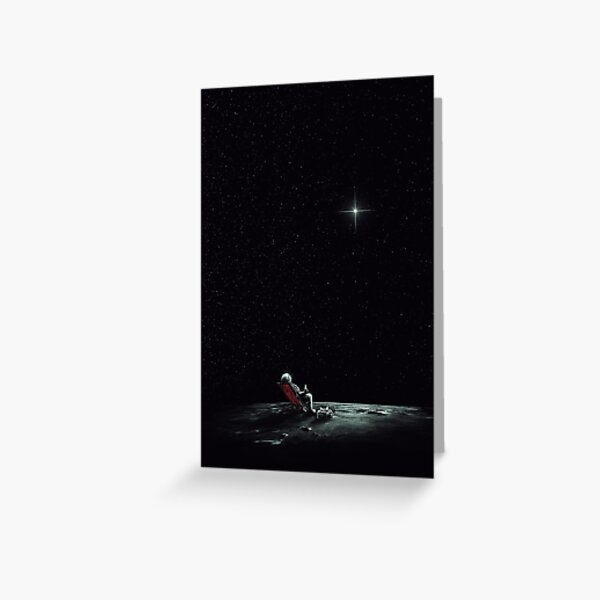 Space Chill Greeting Card