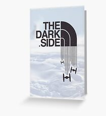 The Dark Side - Tie Fighter Logo Hoth Version Greeting Card