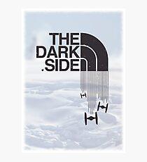 The Dark Side - Tie Fighter Logo Hoth Version Photographic Print