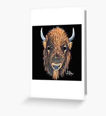 AMeRiCaN BuFFaLo / BiSoN ' BuFFY ' BY SHiRLeY MacARTHuR Greeting Card