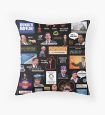 The Office US Montage Throw Pillow