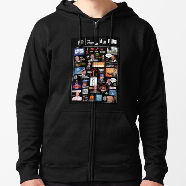 The Office US Montage Zipped Hoodie