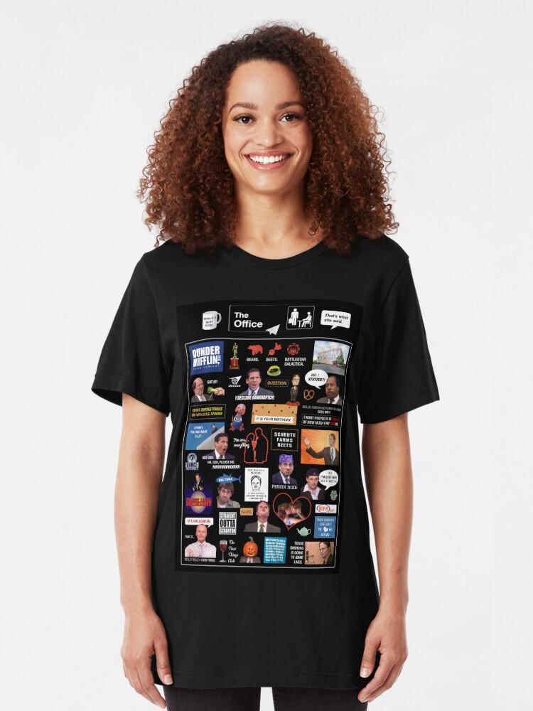 Alternative Ansicht von Das Büro US-Montage Slim Fit T-Shirt