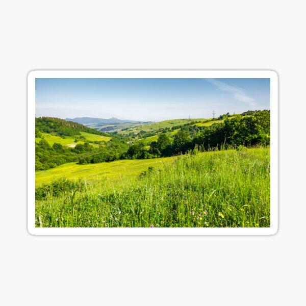 lovely mountainous countryside in summertime Sticker