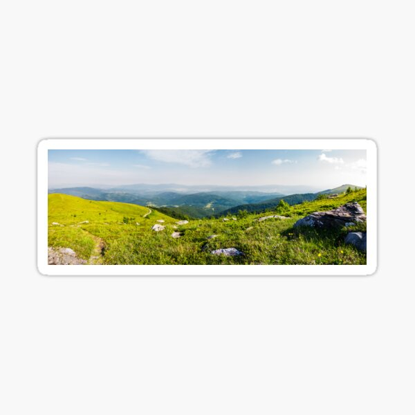 panoramic view from the hillside Sticker