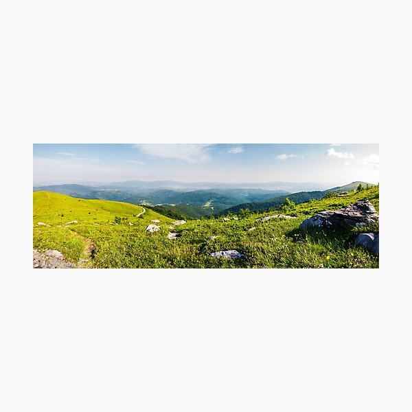 panoramic view from the hillside Photographic Print