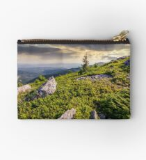 small spruce tree among the rocks Studio Pouch