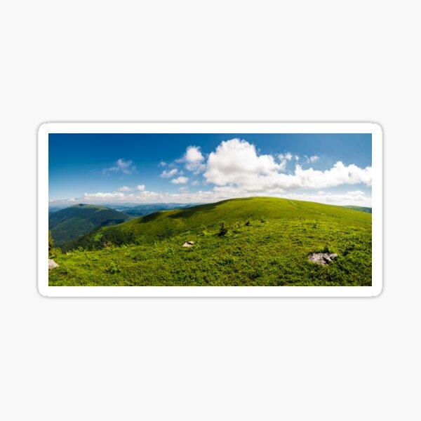 alpine meadows on the mountain top Sticker
