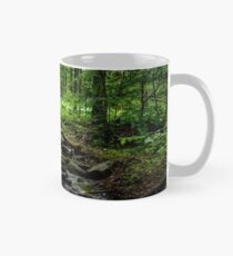 wild brook in the dark forest Mug