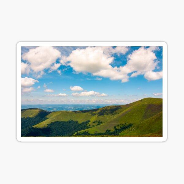 beautiful landscape of Carpathian mountains Sticker