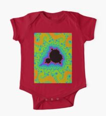 the Mandelbrot set in gold One Piece - Short Sleeve