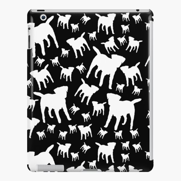 Border Terrier Gifts for Dog Lovers Black & White Silhouette iPad Snap Case