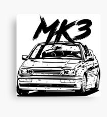 "Golf 3 MK3 Convertible ""Dirty Style"" Canvas Print"