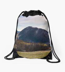 beautiful countryside panorama in springtime Drawstring Bag