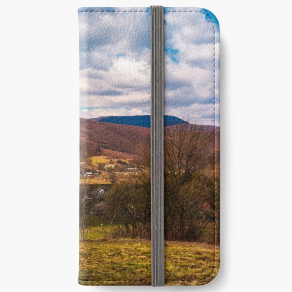 mountainous countryside in springtime iPhone Wallet